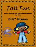 Mrs. Benson's Fall and Thanksgiving PE Games and Stations