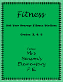 Mrs. Benson's Not Your Average Fitness Stations