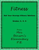Mrs. Benson's Not Your Average Fitness Stations
