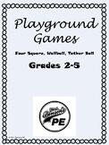 Mrs. Benson's Playground Games