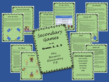 Mrs. Benson's Games for PE- intermediate grades