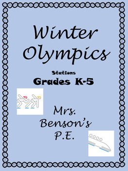 Mrs. Benson's Winter Games Stations