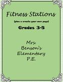 Mrs. Benson's Fitness Stations
