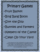 Mrs. Benson's Games for PE-primary grades
