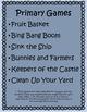 Mrs. Benson's Games for PE-primary grades