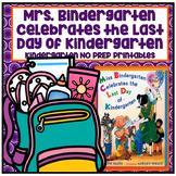 Mrs. Bindergarten Celebrates Kindergarten NO PREP Supplemental Reading Printable