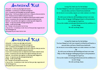 Mrs Bolt's Survival Kits - For Back to School or Mother's Day Gift