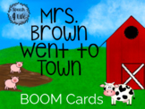 Mrs. Brown Went to Town | BOOM CARDS | 2 LEVELS Comprehens