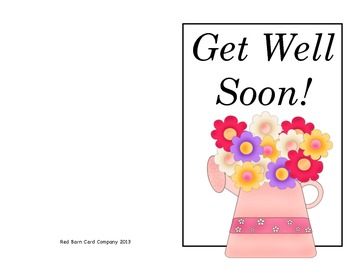 Mrs. Brown Went to Town: Get Well Card