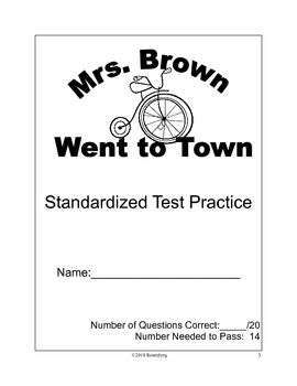 Mrs. Brown Went to Town Standardized Test Practice