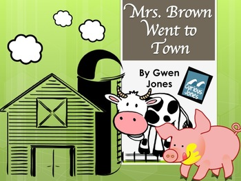 Mrs. Brown Went to Town Vocabulary and Sight Words PPT with a Companion Page