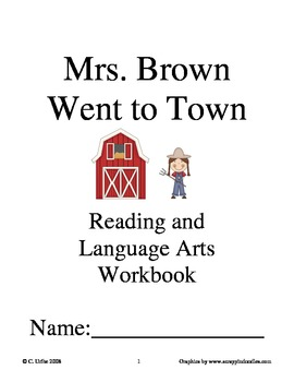 Mrs. Brown Went to Town ~ Wong Herbert Yee ~ Language Arts Workbook
