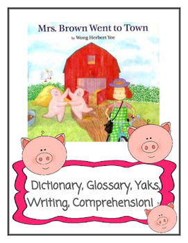 Mrs. Brown Went to Town by Herbert Yee -- Dictionary, Glos