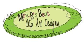 Mrs. B's Best Clip Art Logo