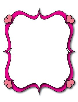 Mrs. B's Whimsical Valentine Heart Borders and Frames by ...
