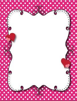 Mrs. B's Whimsical Valentine Heart Borders and Frames