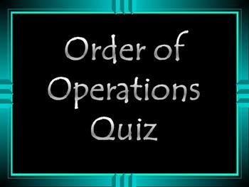 Mrs. Calhoun's Order of Operations PowerPoint Quiz