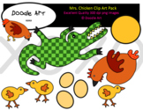 Mrs. Chicken Clipart Pack