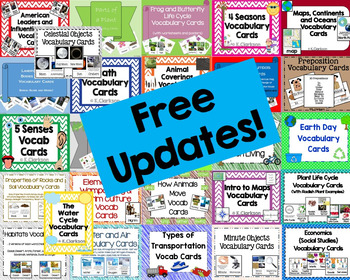 Mrs. Clarkson's-Vocabulary Cards {BIGGEST Bundle Yet} (with Free Updates!)
