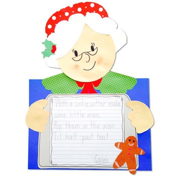 Mrs. Claus Christmas Craft Activity