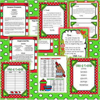 Mrs Claus & Friends Christmas Classroom Cookbook and Activity Packet