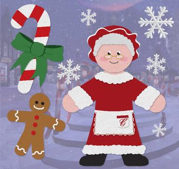 Mrs. Claus - Holiday Clip Art Set 01