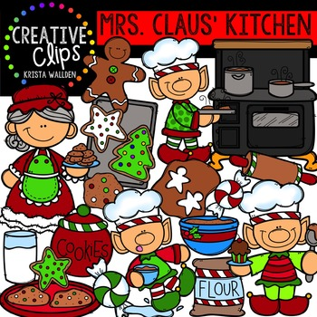 Mrs. Claus' Kitchen - Christmas Clipart {Creative Clips Clipart}