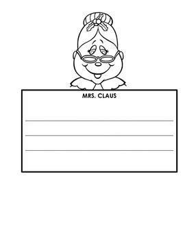 Mrs. Claus Readers' Theater and Writing Activity Packet