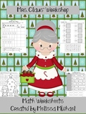 Mrs. Claus' Workshop - 11 Math Worksheets - CCSS