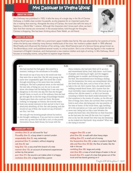 Introduction to Mrs. Dalloway by Virginia Woolf Distance learning