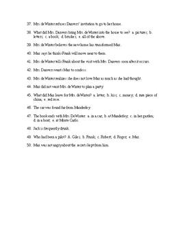 Mrs. DeWinter Reading Check Test/Quiz