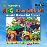 """""""Mrs. Flutterbee's ABC Read With Me"""" -  ABC 26 Page Class Book Template"""