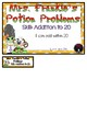 Mrs. Frankie's Potion Problems Math Addition to 20 File Folder Game Kindergarten