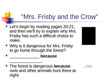 Mrs. Frisby and the Crow - Cause and Effect - Open Court Reading