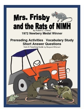 Mrs. Frisby and the Rats of NIMH Prereading, Vocbulary, Short Answer Questions