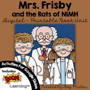 Mrs. Frisby and the Rats of NIMH Worksheets by Mrs Palmetto's Store