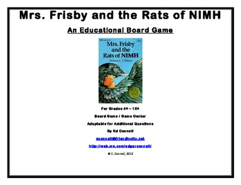 Mrs Frisby and the Rats of NIMH Board Game