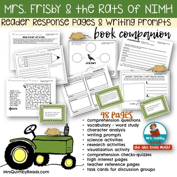 Mrs frisby and the rats of nimh comprehension teaching resources mrs frisby and the rats of nimh literature study pack fandeluxe Gallery