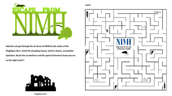 Mrs. Frisby and the Rats of NIMH Maze