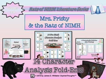Mrs. Frisby and the Rats of NIMH Mega Activity Bundle 4 Products in 1!