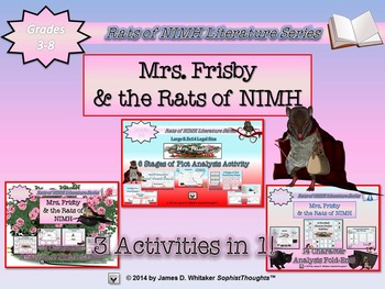 Mrs. Frisby and the Rats of NIMH Mega Activity Bundle 4 Pr