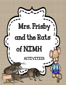 Mrs. Frisby and the Rats of NIMH  - Novel Activities