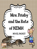 Mrs. Frisby and the Rats of NIMH  - Novel Study Unit Bundle