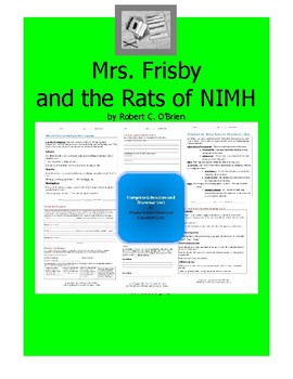 Mrs. Frisby and the Rats of NIMH  Complete Literature and Grammar Unit