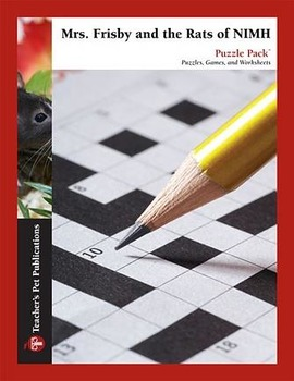 Mrs. Frisby and the Rats of NIMH: Puzzle Pack - Crosswords, Worksheets, Games