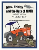 Mrs. Frisby and the Rats of NIMH  Vocabulary Study