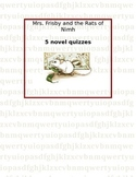 Mrs. Frisby and the Rats of Nimh - Complete Pack of Novel Quizzes