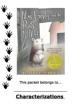 Mrs. Frisby and the Rats of Nimh Literature Guide