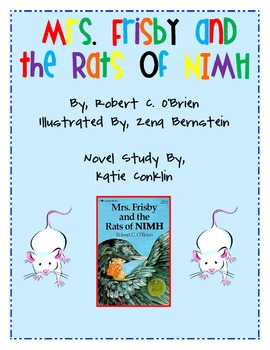 Mrs. Frisby and the Rats of Nimh, Novel Study