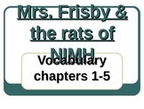 Mrs. Frisby and the Rats of Nimh Vocab